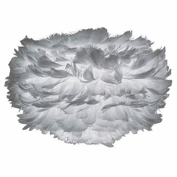 Vita Eos fjäderlampa grå MINI (35 x 20 cm)