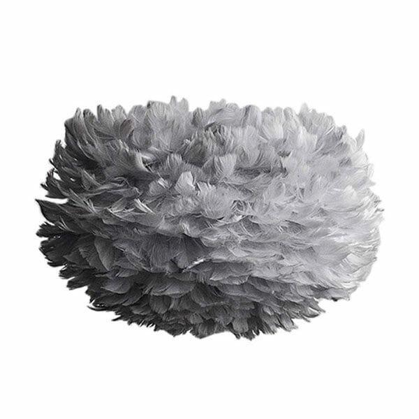 Vita Eos fjäderlampa grå Medium (45 x 30 cm)