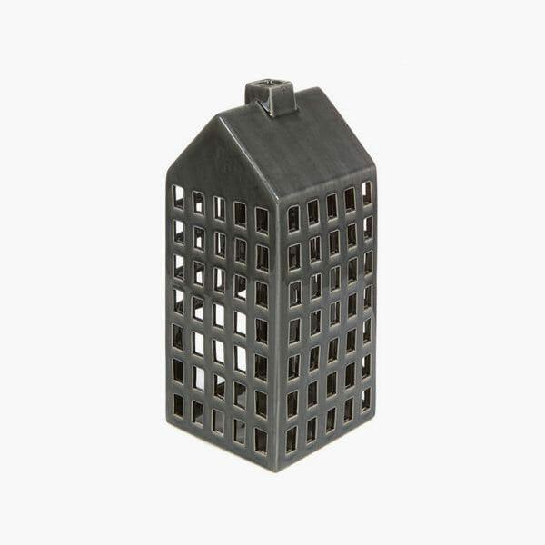 Keramisk ljuslykta House grå från Homania