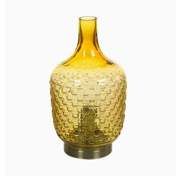 Bordslampa glas gul från Shine Inline