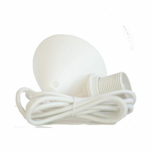 Vita – Lampsladd med takkåpa Vit (Textil)
