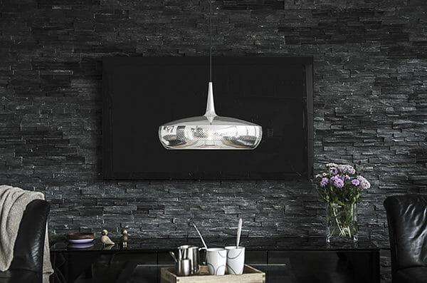 Vita Clava dine taklampa i polerad stål