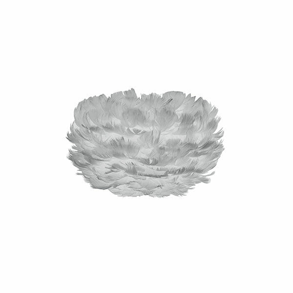 Vita Eos fjäderlampa grå Micro