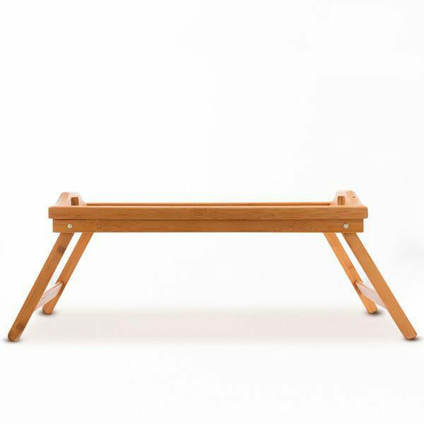 Bambubricka med ben (Sängbricka)