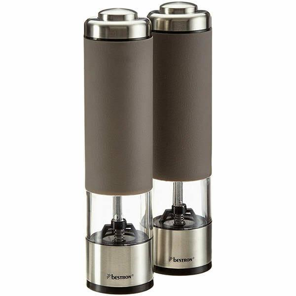 Bestron Elektrisk salt och pepparkvarn set Cappuccino