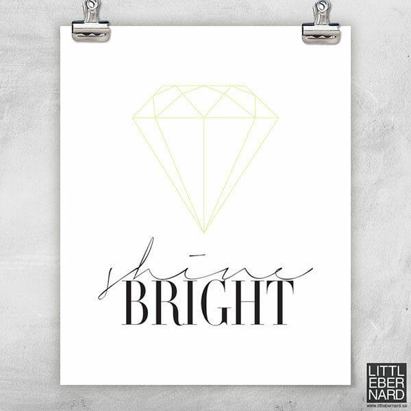 Diamant gul poster