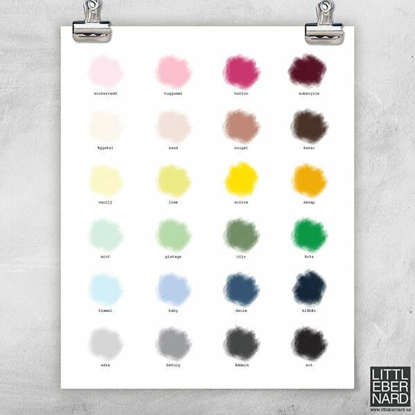 Färgpalett poster