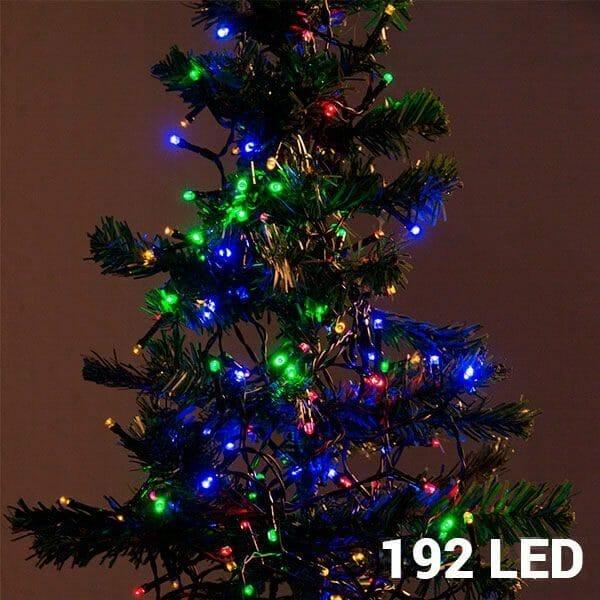 Flerfärgad julbelysning (192 LED)