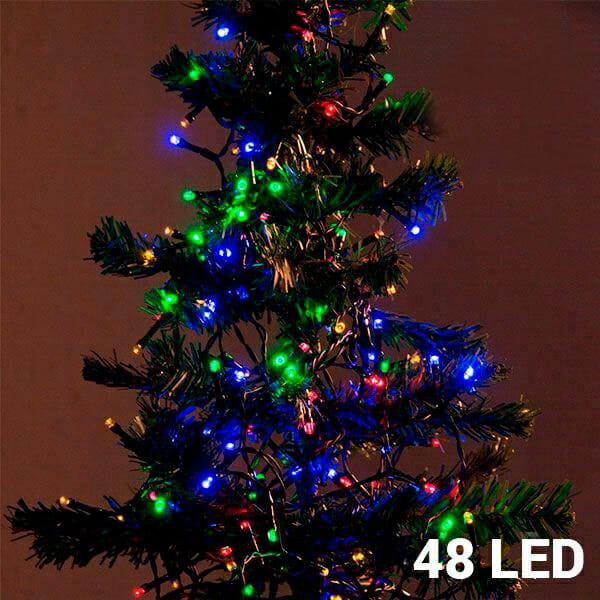 Flerfärgad ljusslinga (48 LED)