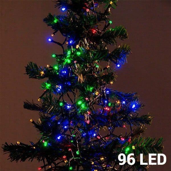 Flerfärgad julbelysning (96 LED)