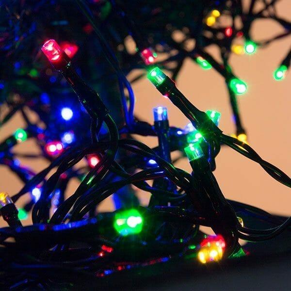 Flerfärgad julbelysning
