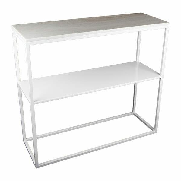 """Hallbord vitt med marmor + hylla """"Helena"""""""