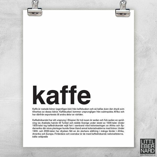K som i Kaffe poster