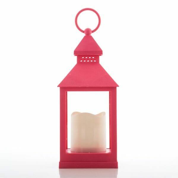 Ljuslykta med LED rosa