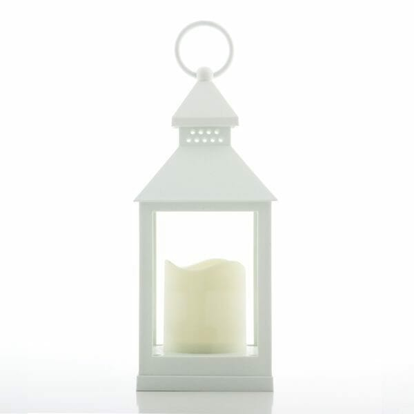 Ljuslykta vit med LED
