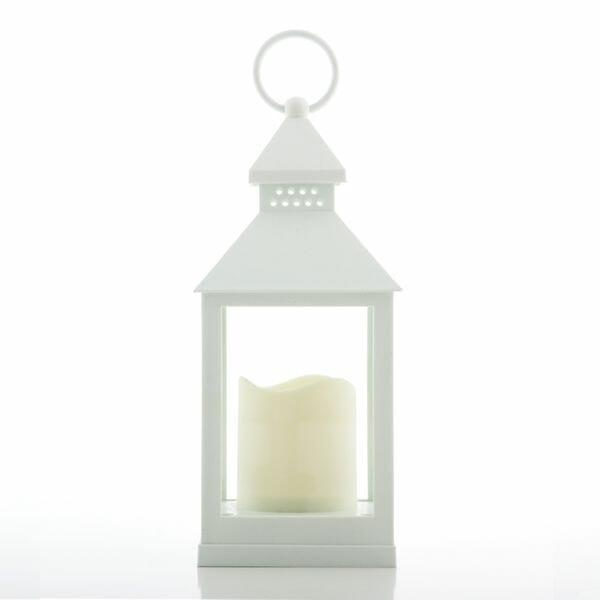 Nya Köp Ljuslykta vit med LED för 199 kr hos Boldliving.se CA-18