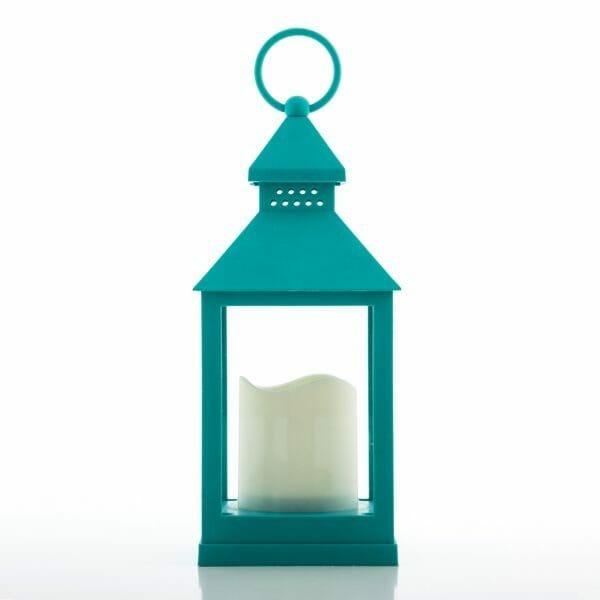Ljuslykta turkos med LED