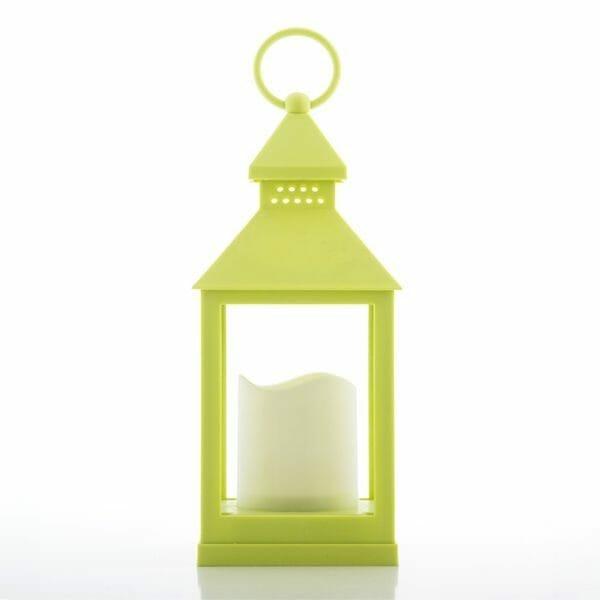 Ljuslykta pistagegrön med LED
