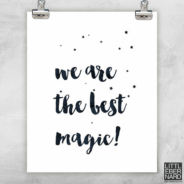 We are the best magic poster