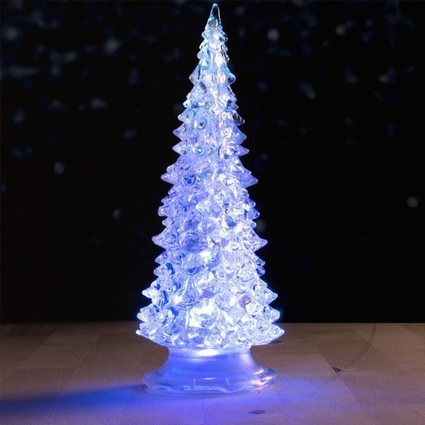 Minijulgran med LED-lampor