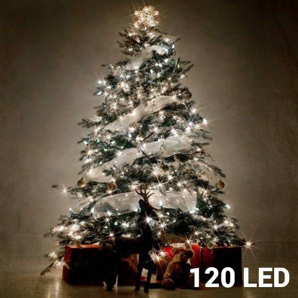 Vit julbelysning (120 LED)