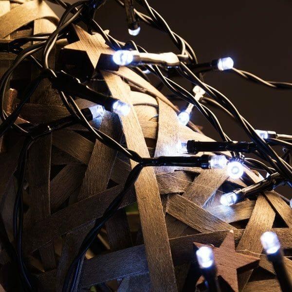 Vit julbelysning - julgransbelysning