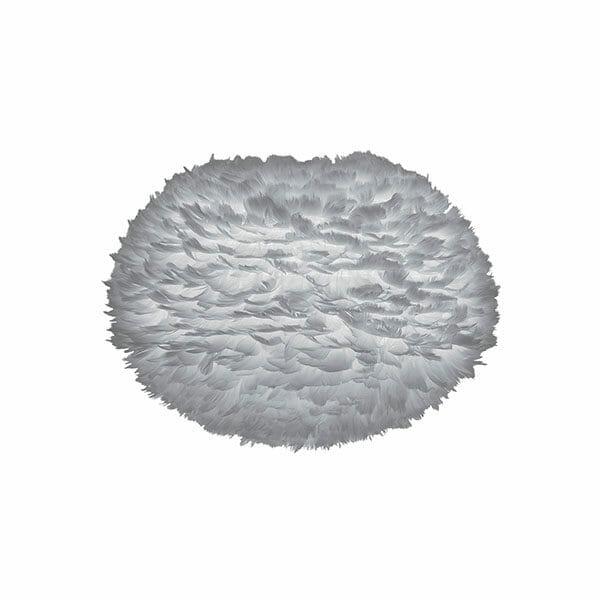 Vita Eos fjäderlampa grå Large