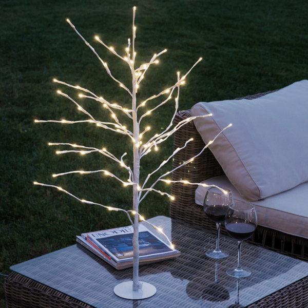 Snötäckt dekorativt träd (112 LED)