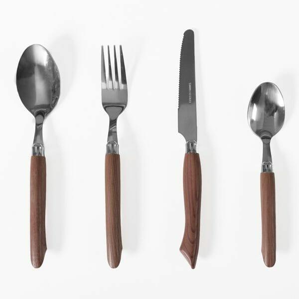 Bestickset trä/stål för (16 delar)