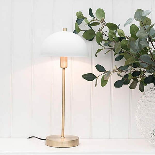 Classic Vit/Mässing bordslampa Havsö