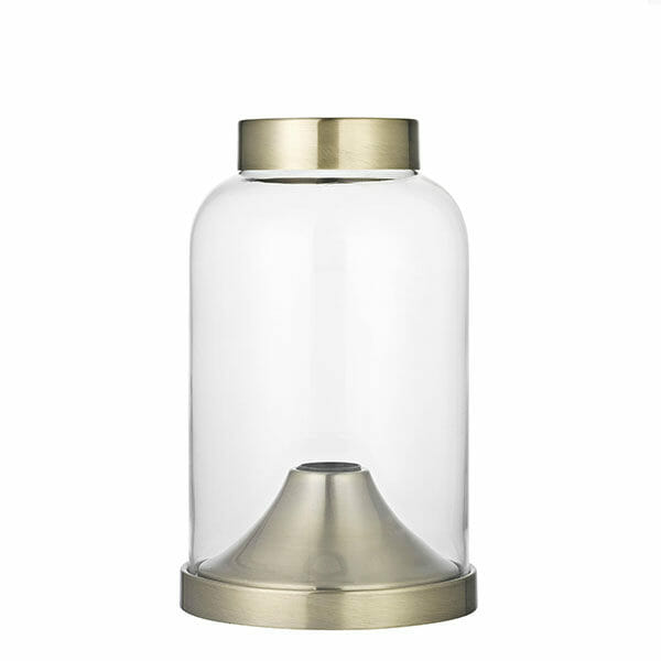 Glaskupa bordslampa - Mässing
