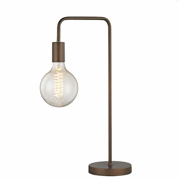 Krok retro bordslampa - Brun