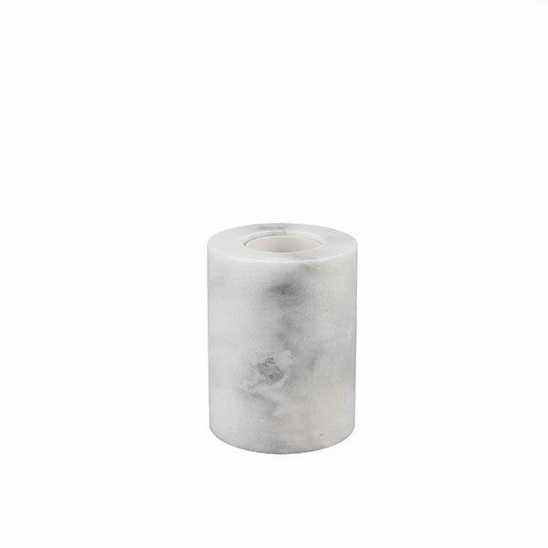 Rund marmorfot - Vit Havsö