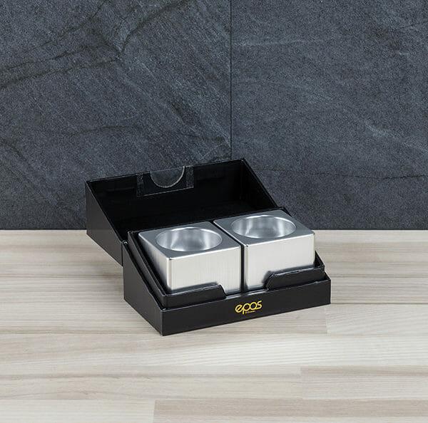 Kubb ljushållare, Silver (2 st)
