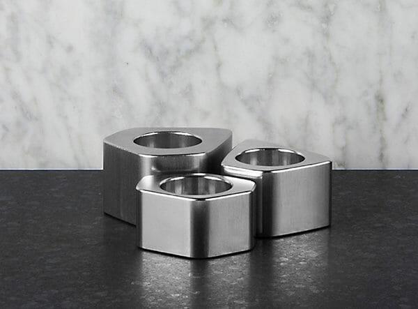 Voronoi ljusstakar, Silver