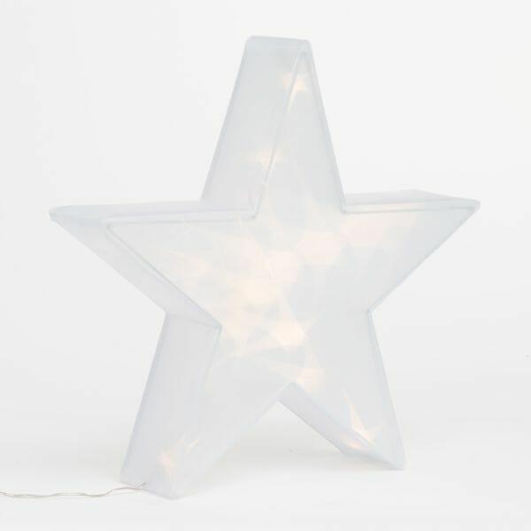 Dekorativ julstjärna Vit (20 LED)
