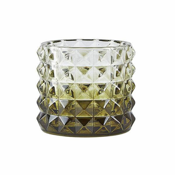 Värmeljushållare Glas, Grön (7,5 cm)