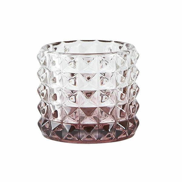 Värmeljushållare Glas, Plommon (7,5 cm)