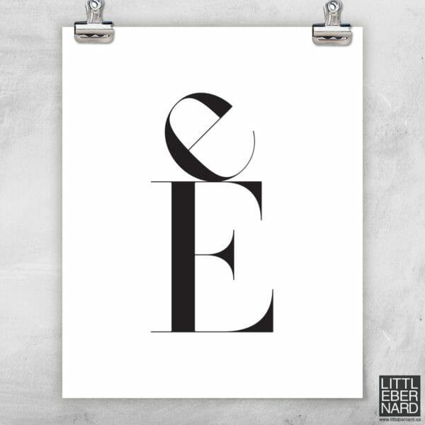 Versal gemen poster E