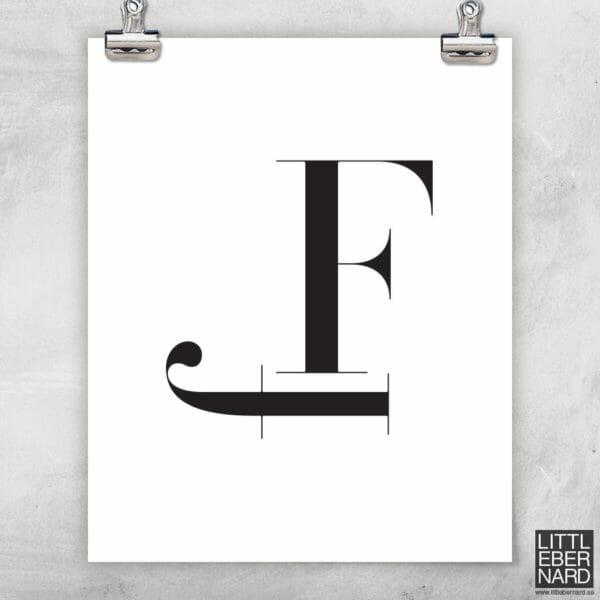 Versal gemen poster F
