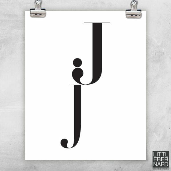 Versal gemen poster J