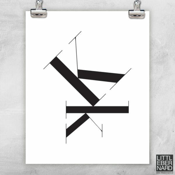 Versal gemen poster K