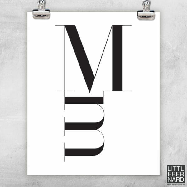 Versal gemen poster M