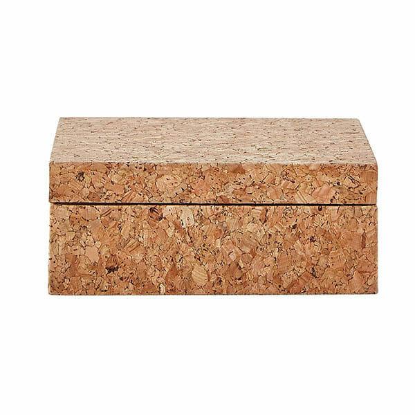 Förvaringsbox Kork kvadrat, natur (small)
