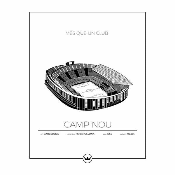 Poster Camp Nou - Barcelona