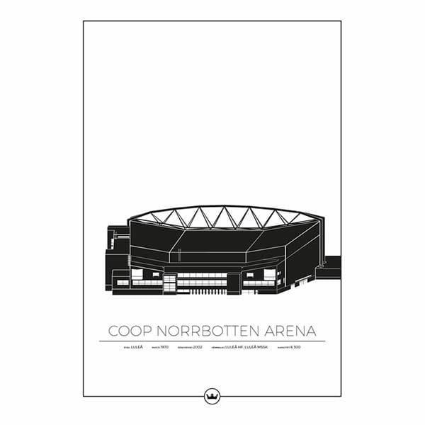 Poster Coop Norrbotten Arena - Luleå