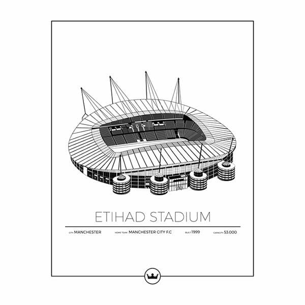 Poster Etihad Stadium - Manchester, England
