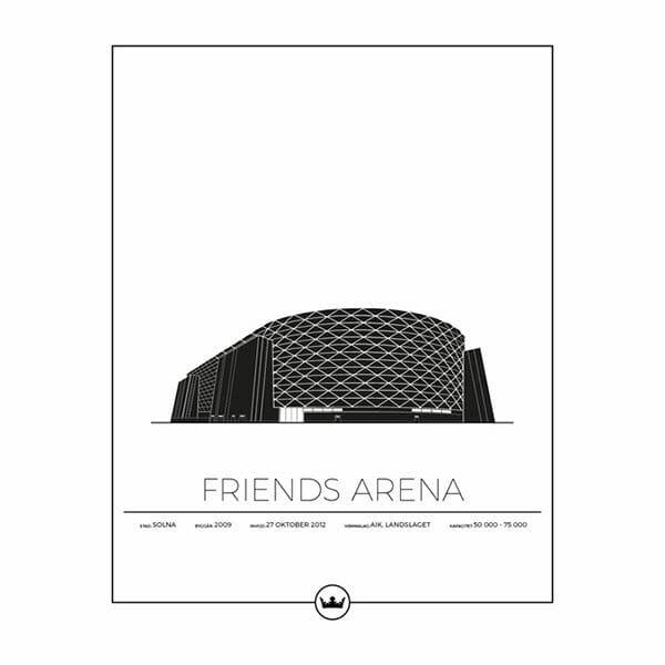 Poster Friends Arena - Aik - Stockholm, Solna
