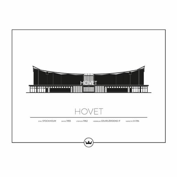 Poster Hovet - Djurgårdens IF, Stockholm
