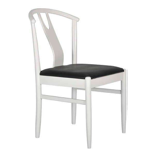 Hugo stol vit/svart, 2-Pack
